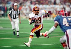 washington redskins ricky sanders super bowl | Washington Redskins receiver #83 Ricky Sanders in action against the ...