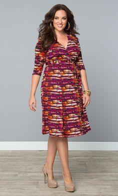 Plus Size Dress - Plus Size Essential Wrap Dress at Kiyonna