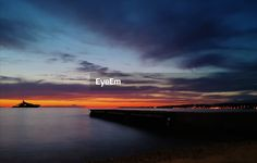 Scenic view of sea against sky during sunset | ID: 146567465 Buy Photos, Royalty Free Pictures, Terms Of Service, Budapest, Photographs, Sky, Explore, Sunset, Heaven