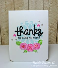 Crafty Time 4U Crafty Friendship blog hop card using Lawn Fawn and the Newton's Nook stamps. #lawnfawn #newtonsnook