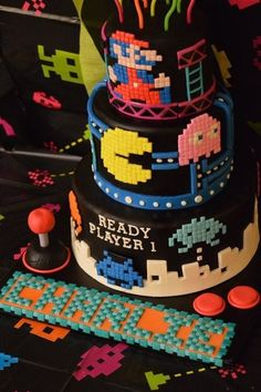 Gleaming cake ideas for boys and ocean themed birthday cake ideas boys cakes ready player of . Bolo Pac Man, Pac Man Cake, 13 Birthday Cake, Boy Birthday, Birthday Parties, Birthday Celebration, Birthday Ideas, Festa Do Pac Man, Computer Cake