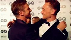 Tom Hiddleston and Dan Stevens(I wouldnt be able to resist either Dan)