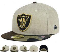 Oakland Raiders New Era NFL Oatwood 59FIFTY Cap Hats only US$8.90