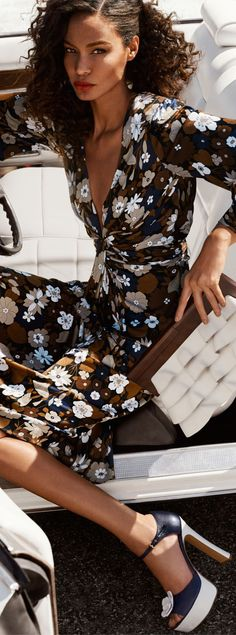 Michael Kors Floral Satin Dress | Office Fashion