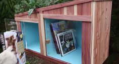 Giving and receiving books via a tiny library. #GiveBooks