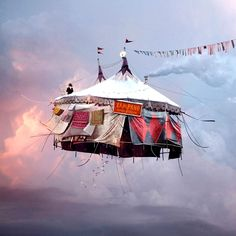 """""""Flying houses"""" work by photographer Laurent Chehere"""