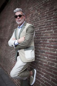 Nick Wooster Patchwork Wall Lean mensfashion