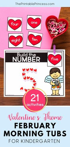 This resource includes 21 literacy and math activities with an adorable Valentine's theme. The activities make the perfect kindergarten morning tubs that are easy to prep, allow for differentiation, interactive, hands-on activities to keep students engaged and learning all month long. Kindergarten Morning Work, Kindergarten Math Activities, Sight Word Activities, Counting Activities, Letter Activities, Preschool Learning, Student Learning, Literacy, Teaching Sight Words