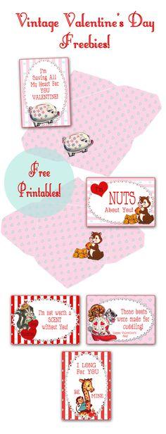 Vintage Valentines Free Printables