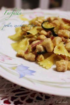 """l'angolo de """"la cake disaster"""": Piatto Unico: farfalle con pollo, zucchine e speck..."""