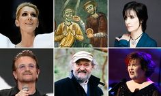 In the moment: clockwise from top left, Celine Dion, 11th-century monks, Enya, Susan Boyle, Arvo Pärt and U2