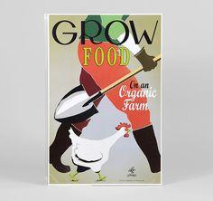 Grow Food on an Organic Farm 12x18 poster por WirtheimDesignStudio