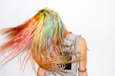 Chloe Norgaard's sick rainbow hair #manicpanic
