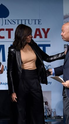 Michelle Obama Just Started the Next Big Trend For Leather Jackets — and We're 100 Percent on Board