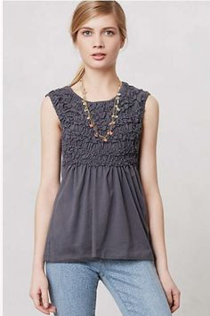 Smocked Cadence Top- Anthropologie