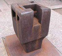 "Eduardo Chillida ""Hommage an Heidegger"" (1994).Chillida, Eduardo (1924 - 2002) Stahl 1994 Aufstellung 1998"
