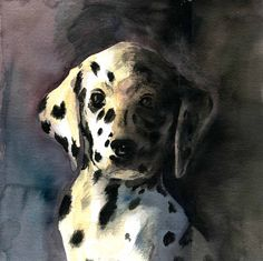 WATERCOLOR by JRB Paintings, Watercolor, Brown, Dogs, Animals, Animales, Watercolour, Paint, Watercolor Painting