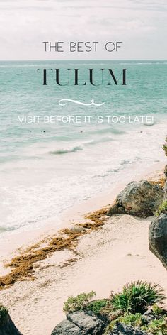Travel Guide to Tulum Mexico. Tulum beach is great for family vacation. There are delicious restaurants for food nomades, things to do and some shopping. World Travel Guide, Travel Tips, Travel Guides, Travel Goals, Tulum Beach, Beach Trip, Merida, Cancun, Usa Places To Visit