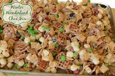 Winter Wonderland Chex Mix - Highly addictive! My favorite Christmas treat! Thank goodness it's so quick to throw together!