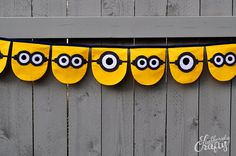 Minion Party Banner Handmade by Lisa by StubbornlyCrafty on Etsy