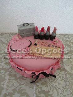 Doces Opções: Makeup cake