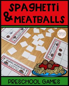 Check out these fun spaghetti themed games and activities! Students learn game play, turn taking, social skills and vocabulary! Easy to prep and easy to use! Great for speech rooms, preschool classes and special education classrooms. Pair with drill work in the speech room! Click here to check it out!