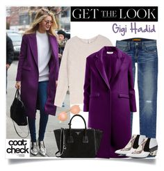 """No 244:Get the Look: Cool Coats-Gigi Hadid"" by lovepastel ❤ liked on Polyvore featuring Rebecca Minkoff, Sandro, Prada, J.Crew, Rodarte and coolcoat"