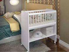 mini berço cama quarto bebe com rodízios e colchão