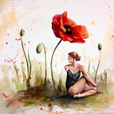 Bethany Cannon Art Studios | Stretching in Poppies