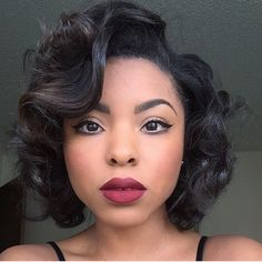 Hairspiration  Gorgeous soft curls➰➰➰ and a bold lip on @_ashlynnharris❤️ So classic and STUNNING #VoiceOFhair ========================= Go to VoiceOfHair.com ========================= Find hairstyles and hair tips! =========================