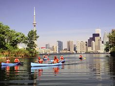Favorite thing to do in Toronto. (in nice weather) Take a ferry to the Toronto Islands and ride a bike or take a walk. A waterfront picnic park made up of several islands. Toronto Island, Toronto City, Toronto Travel, Downtown Toronto, Toronto Skyline, Great Places, Places To Go, Beautiful Places, O Canada
