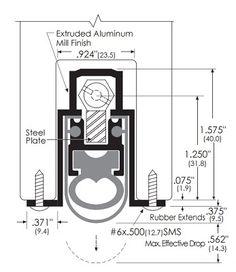 Product Specs Of Zero International Mortised Automatic Door Bottom With Double Neoprene Seal For Soundproofing Doors 369 Automatic Door Sound Proofing Doors