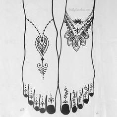 BoHo Henna design for the feet