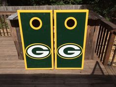 Green Bay PackersNFL Cornhole by GamedayCreationz on Etsy, $150.00