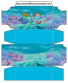 Bottom of the Sea - Full Kit with frames for invitations, labels for goodies, souvenirs and pictures!   Making Our Party