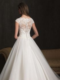 lace bodice ball gown tulle wedding dress