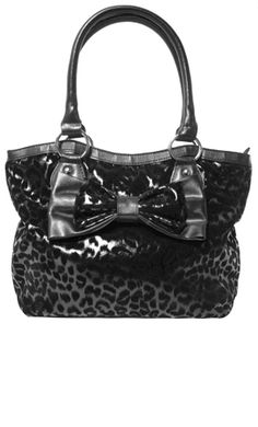 ROCK REBEL BLACK LEOPARD BAG Cute Handbags 6abbaa96a9e7