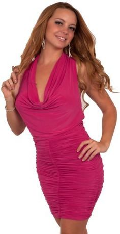 Sleeveless Scoop Neck Halter Ruched Pearl Accent Evening Formal Mini Dress