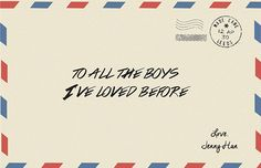 To All The Boys I've Loved Before on Behance