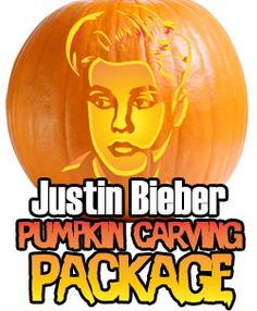 For all the Justin Bieber fans, the ultimate Pumpkin Stencil Package