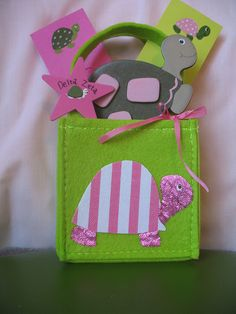 Great idea for bid day bags! Cut and Glue! Easy! We love recruitment! #GTTR