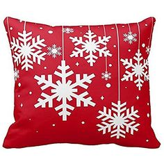 Nation Pillow Case Clearance ♥ Xmas Christmas Sofa Bed Home Decoration Festival Cushion Cover * Check this awesome product by going to the link at the image. (This is an affiliate link) Christmas Cushion Covers, Christmas Cushions, Red Throw Pillows, Throw Pillow Cases, Christmas Crafts, Christmas Decorations, Merry Christmas, Xmas, Snowflakes