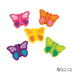 Gummy Butterflies, Soft & Chewy Candy, Candy, Party Themes & Events - Oriental Trading