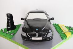 Celebrate with Cake!: BMW Car And Golf Cake Bmw Cake, Cute Cakes, Singapore, Golf, Carving, Birthday, Cars, Beautiful Cakes, Birthdays