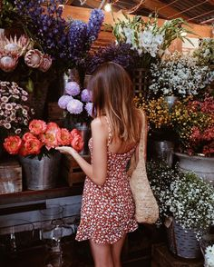 Shopping for blooms