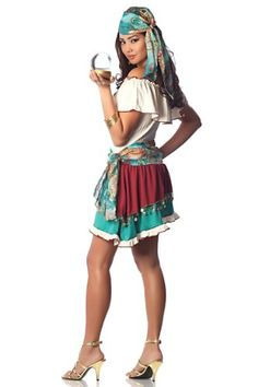 Delicious Gypsy Rose Costume Turquoise Medium >>> Check out this great product.