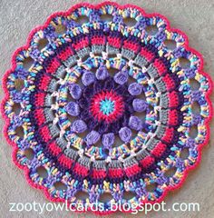 Browse this list of 35 Free Crochet Mandala Patterns, will surely surprise you. Mandalas are patterns that are a big staple in the art of crocheting. Crochet Afghans, Crochet Placemats, Crochet Doilies, Crochet Flowers, Crochet Stitches, Crochet Mandala Pattern, Crochet Circles, Doily Patterns, Crochet Squares