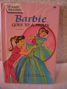"Vintage ""Barbie Goes to a Party"" Book.  One of my favorite books when I was a little girl.  So nice to see it again!"