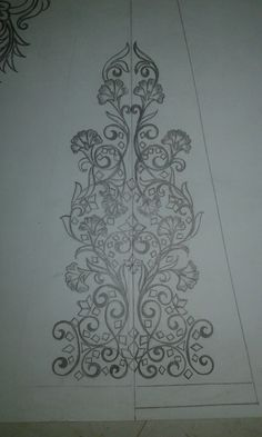 lehenga small panel designe