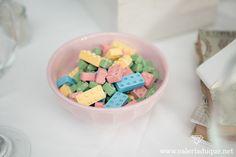 Dulces en forma de lego para armar casitas o para disfrutar! :P
